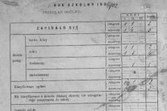 Karta-tytułowa-oraz-arkusz-ocen-ucznia-katalogu-Szkoły-Ludowej-jednoklasowej-w-Zadusznikach,-rok-szkolny-1901-2