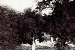 Figurka-na-placu-kościelnym,-Padew,-lata-30-te