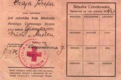 3a---Karta-Józefy-Czaja,-członka-Koła-Młodzieży-Polskiego-Czerwonego-Krzyża-przy-Gimnazjum-Państwowym-w-Mielcu